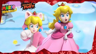 Super Mario 3D World for Switch ᴴᴰ   World 6 (All Green Stars & Stamps) Solo Peach
