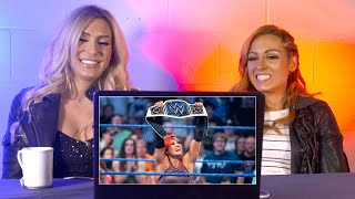 Download Becky Lynch & Charlotte rewatch Becky's SmackDown Women's Title win: WWE Playback Mp3 and Videos