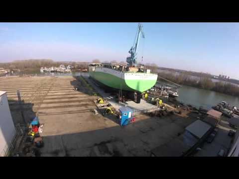 Launching LIVE FISH CARRIER at Shipyard ATG - part.2