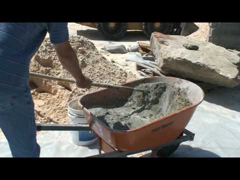 Mixing Cement for Natural Stone