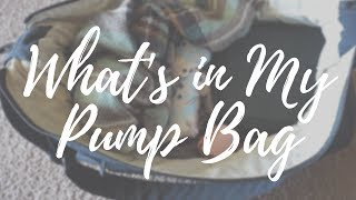 What's in My Pump Bag // 2017