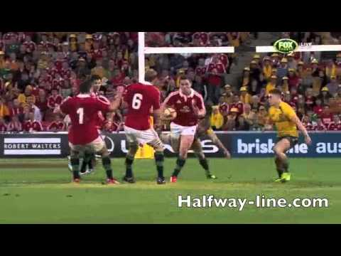 George North Try in Lions First Test