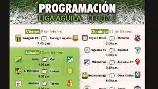 ⚽Resultados⚽ 2 segunda fecha Liga águila 2018⚽