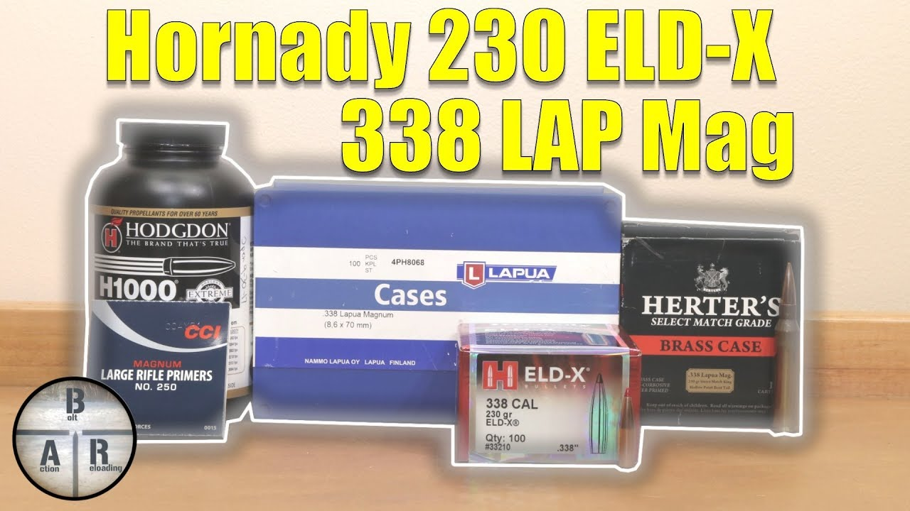 Hornady 230 ELD-X loaded with H1000 loaded in 338 Lapua Magnum
