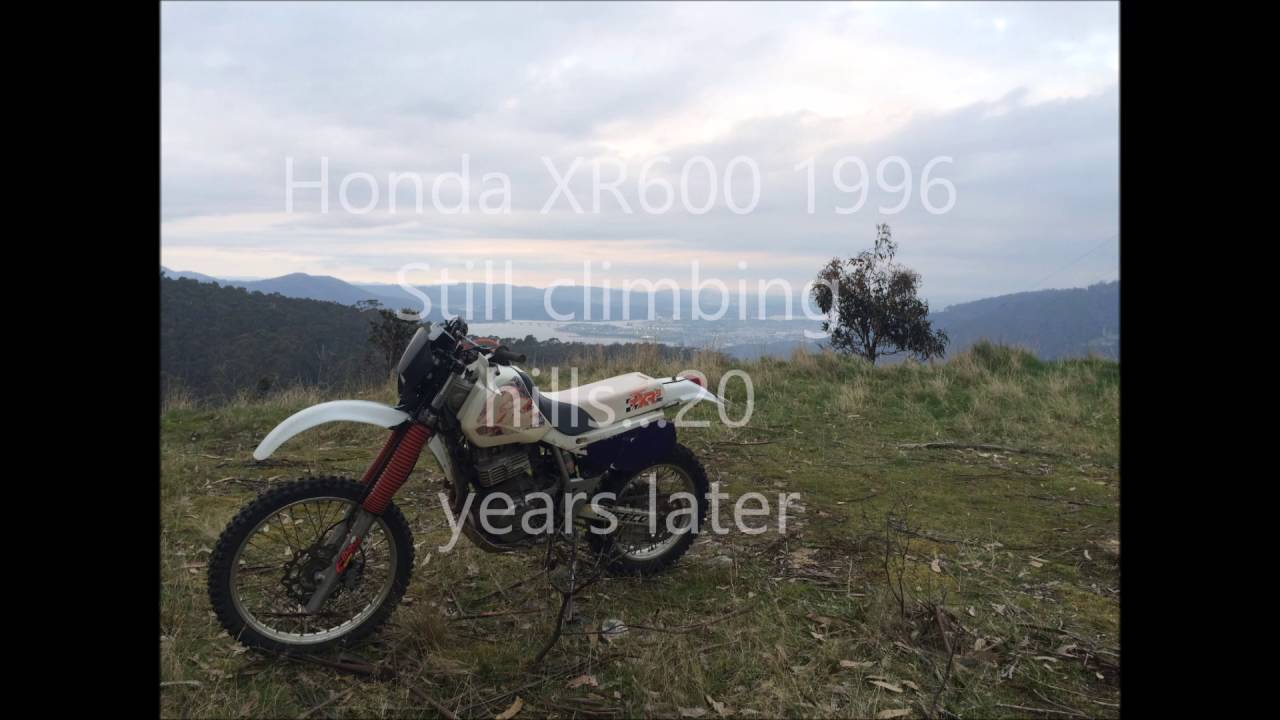 Honda XR600 climbing hills, crashing, XR's only XR 630 1996