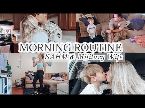 MORNING ROUTINE + 2 TODDLER | MILITARY FAMILY 2020