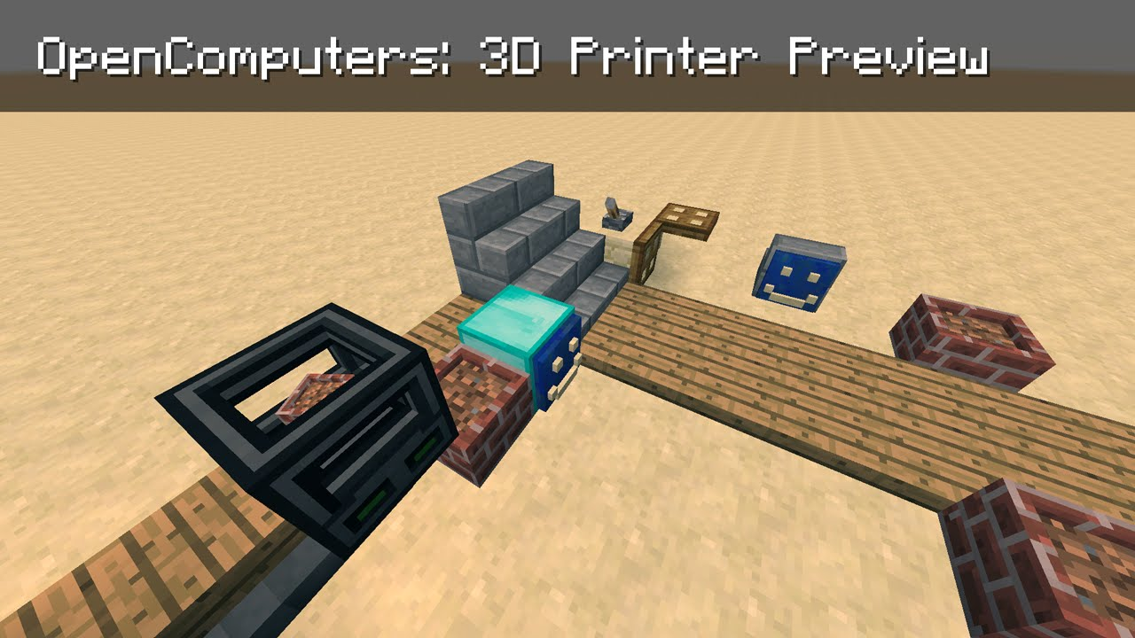 Opencomputers 3d Printer Preview Youtube