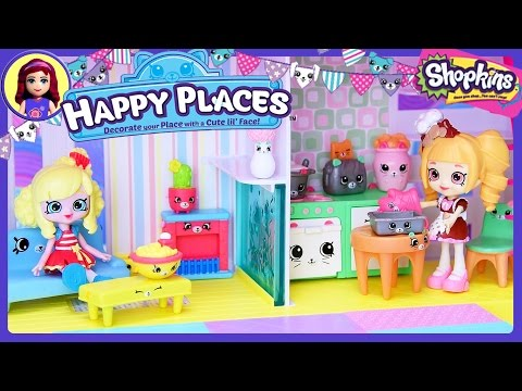 Shopkins Happy Places Home House Playset Exclusive Shoppies Petkins - Kids Toys
