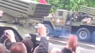 Парад победы в Донецке 2015