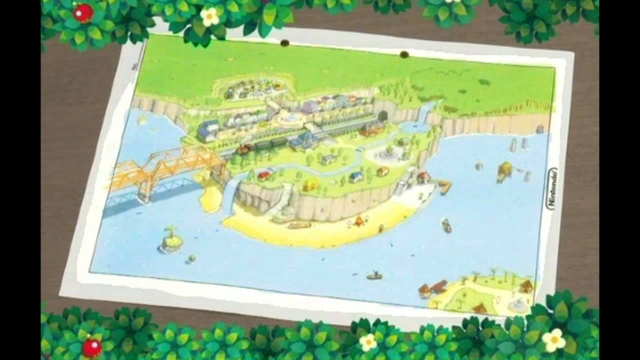 Animal Crossing 3DS Town Map