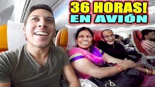 36 HORAS EN AVIÓN, TRAYECTO a LA INDIA! | Alex Tienda