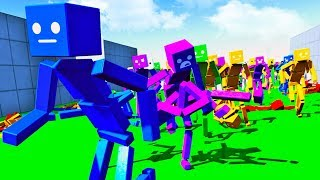 I Built A Zombie Army That Wants To Eat Me - Fun With Ragdolls The Game