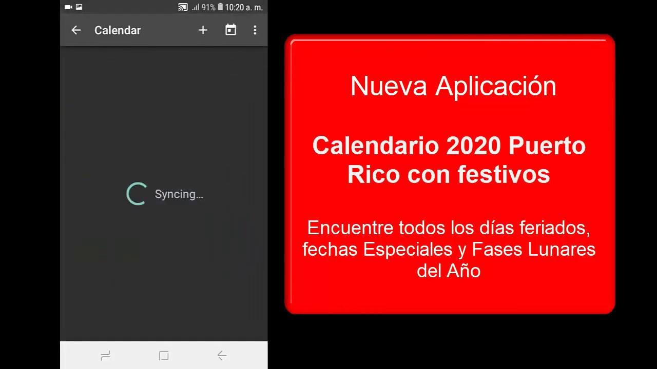 Calendario 2020 Puerto Rico Con Festivos Youtube