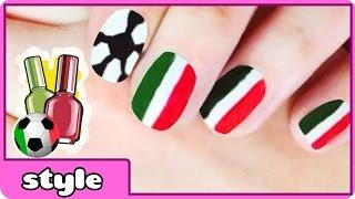 World Cup Nail Art : Italy