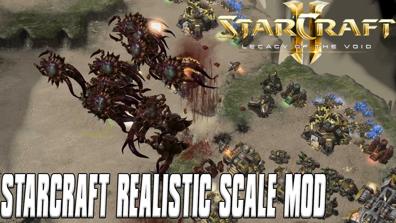 how to play starcraft real scale
