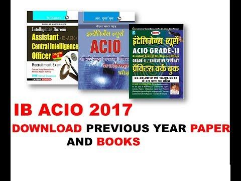 DOWNLOAD IB ACIO PREVIOUS YEAR PAPER & IMP. BOOKS