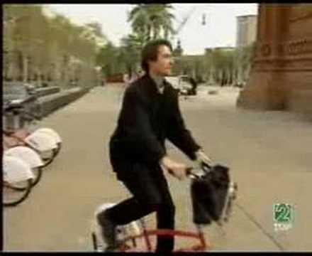 """""""Bicing i Barcelona"""", et indslag fra TVE 2 på span"""