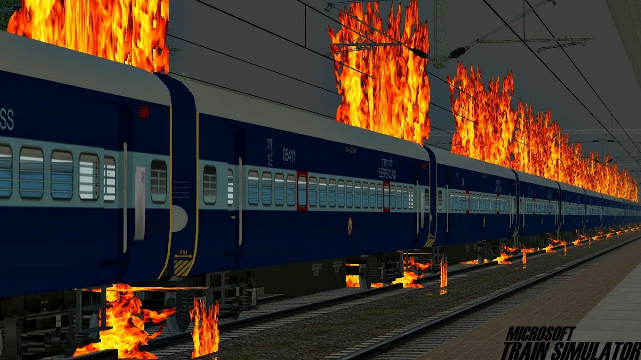 Train Accidently Caught Fire || Locomotive Brakes Failed || MSTS Open Rails