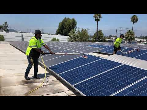 National Solar Cleaning & Jetstream Power Wash - Commercial Roof-Mounted Solar Panel Washing HD 2019