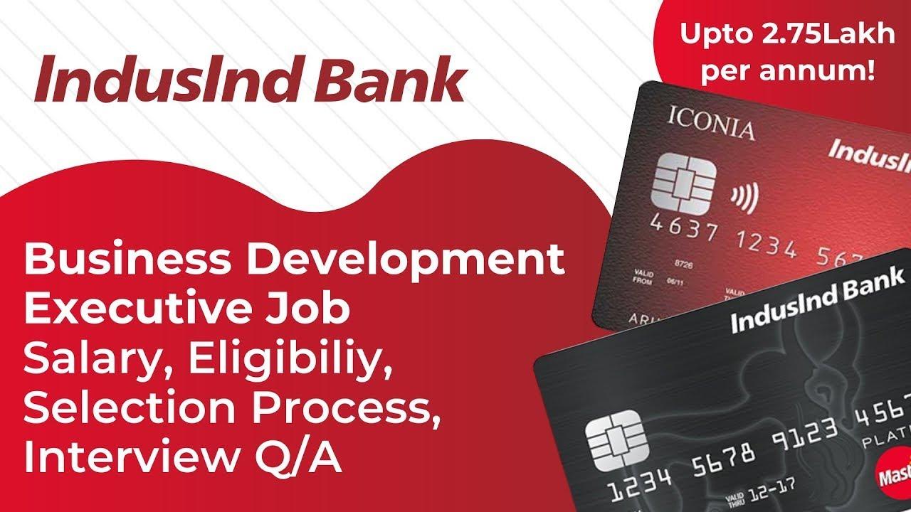 Induslnd Jobs for Freshers 2020   Business Development Executive Jobs   IndusInd Bank Careers  