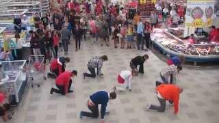 Флэшмоб гипермаркет Караван Днепр