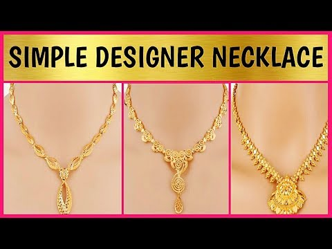 [UNIQUE] Designer Gold Necklace | Latest Jewellery Designs