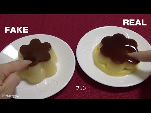 Poking real food vs SQUISHY FOOD