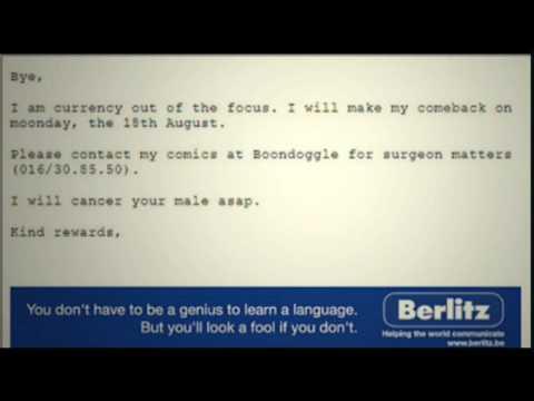 Berlitz language test sample.
