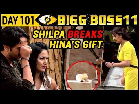 Shilpa BREAKS Hina's Precious GIFT | Bigg Boss 11 Day 101 | 10th January 2018 Full Episode Update