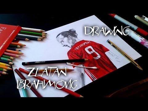 ⚽️ Drawing Zlatan Ibrahimović | sandy sandy
