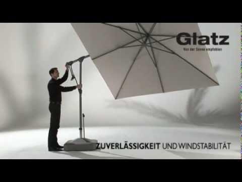 sonnenschirme von glatz sunwing c youtube. Black Bedroom Furniture Sets. Home Design Ideas