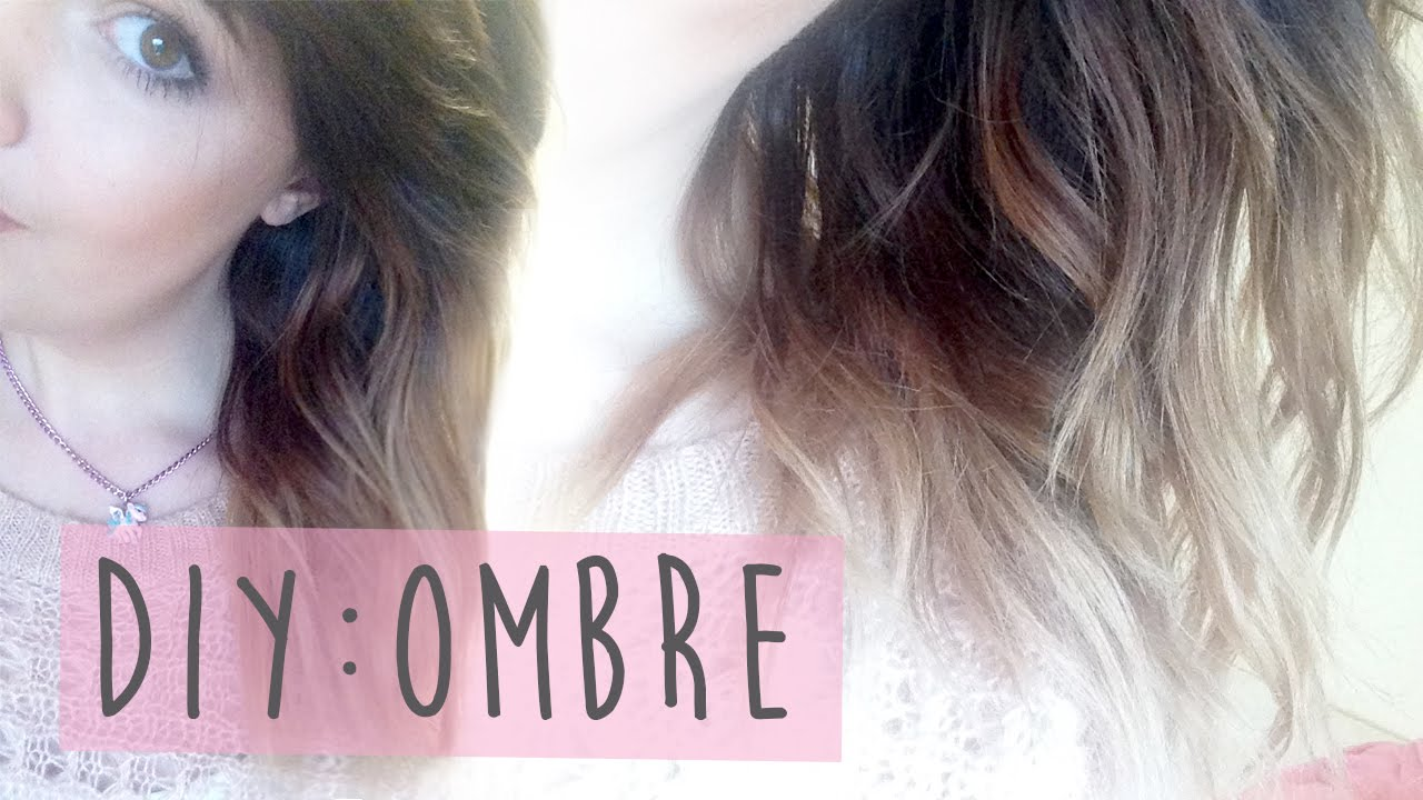 How I Achieved My Brown To Blonde Ombre Hair Youtube