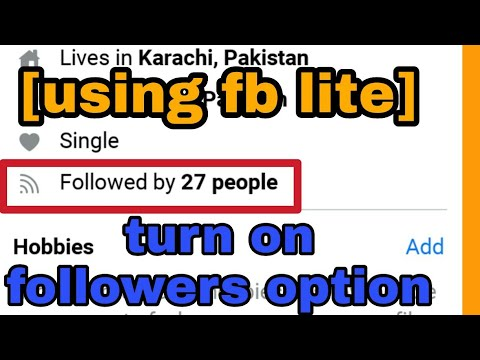 [ using fb lite ] How to turn on followers option on facebook || show facebook followers in timline