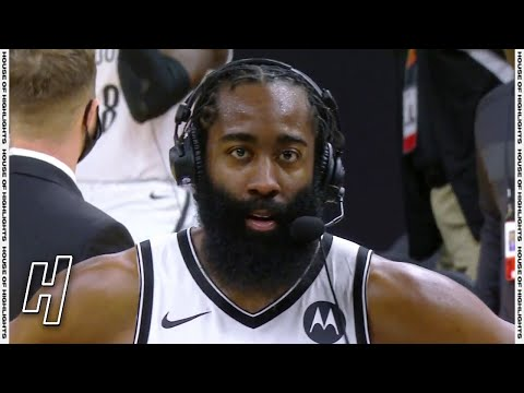 James Harden Talks Comeback Win, Postgame Interview - Nets v