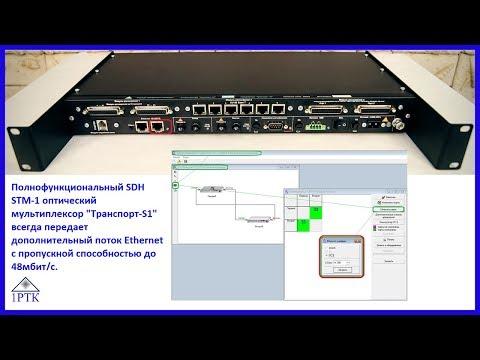 """SDH STM-1 оптический мультиплексор """"Транспорт-S1"""" передает дополнительный поток Ethernet до 48мбит/с"""