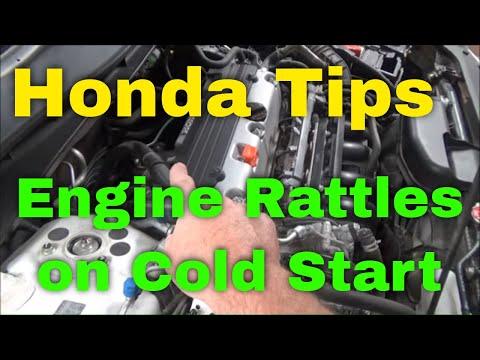 Honda Tips:  Engine Rattles On Cold Start-Up