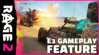 RAGE 2 kicked off the 2018 Bethesda BE3 Showcase with a brand-new,high-action gameplay trailer to show off even more of the wild wasteland. Launching in 2019, RAGE 2 combines idSoftware's shooterpedig
