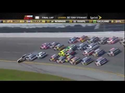 Nascar talladega crash(25 car pile-up) 2012 Chase race (Live Commentary)
