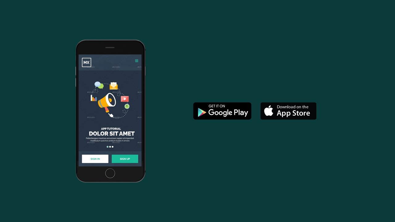 after effects template mobile app promo youtube