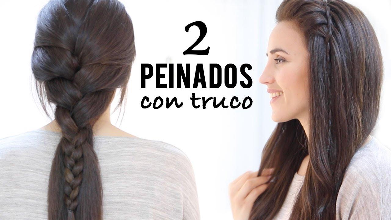 2 Peinados Faciles De Trenza De Raiz Con Truco Youtube