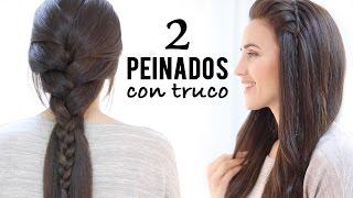 2 PEINADOS FÁCILES DE TRENZA DE RAIZ CON TRUCO