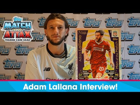 ADAM LALLANA INTERVIEW + CARD FLIP CHALLENGE!