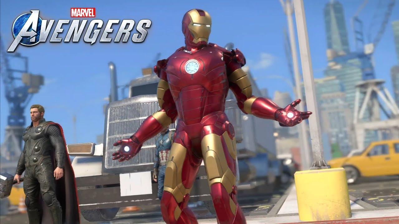 Download Marvel's Avengers PS5 Gameplay || Iron Man 1 Movie Armor Freeroam [4k 60fps]