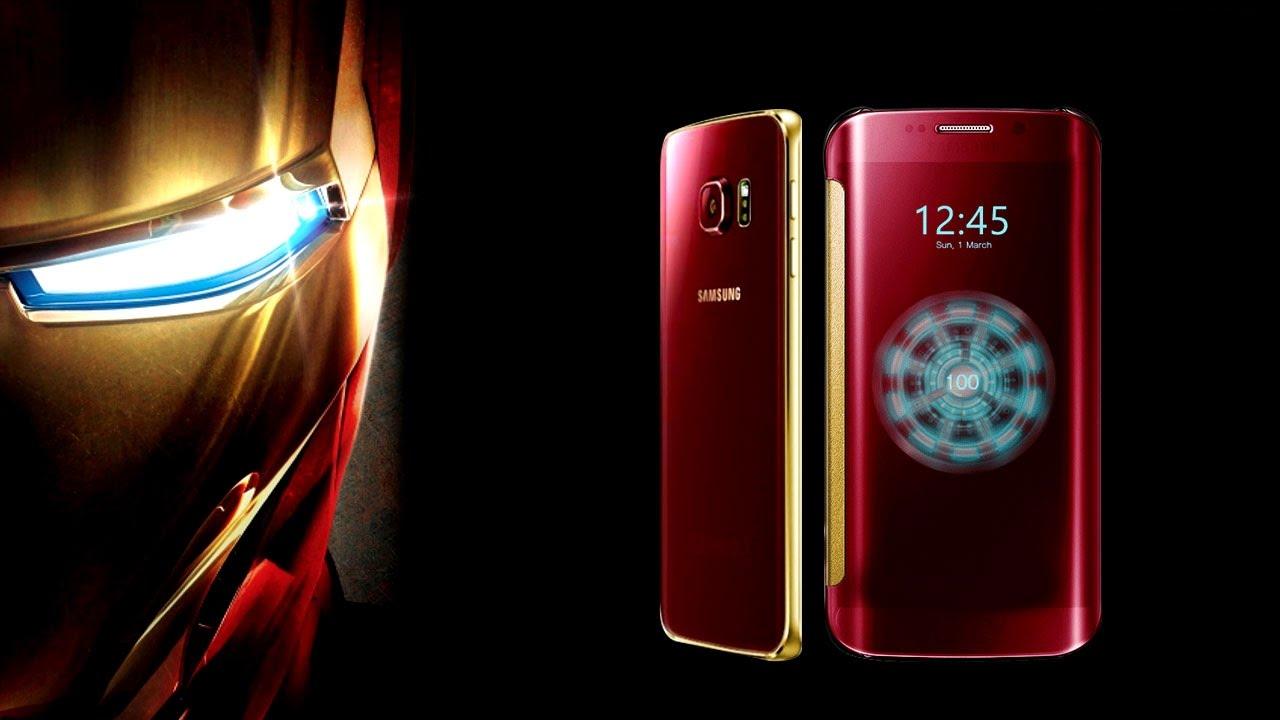 Samsung unveils galaxy s6 edge iron man limited edition.
