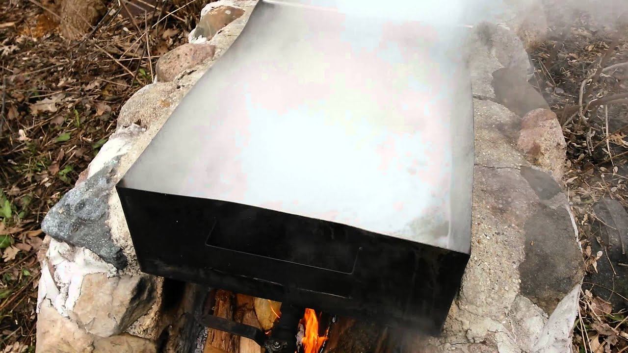 backyard maple evaporator how to make maple syrup youtube