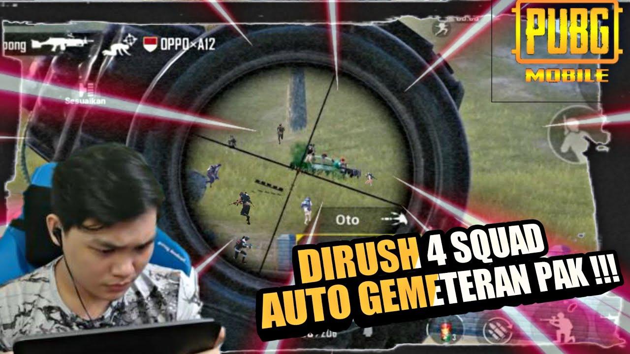 DI RUSH 4 SQUAD AUTO GEMETERAN PAK !!! || PUBG MOBILE