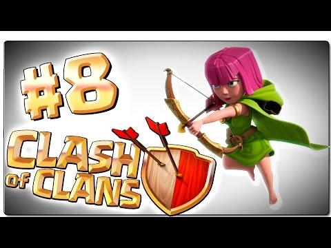 CLASH OF CLANS | Ep 8 | Primera Guerra del clan | Ayuntamiento nivel 4, LVL 20 | Android