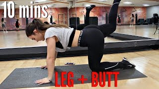 10 Minute BUTT and Thigh Workout How to get a Bigger BUTT FAST !