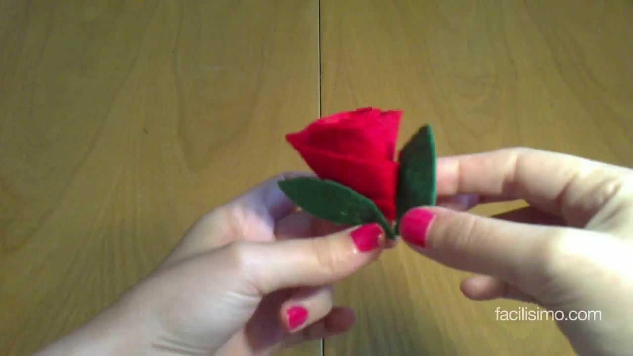 Cmo hacer una rosa con fieltro facilisimocom YouTube
