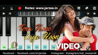 Tera Hone Laga Hoon Piano (Atif Aslam) - Easy Mobile Perfect Piano Tutorial | Jarzee Entertainment